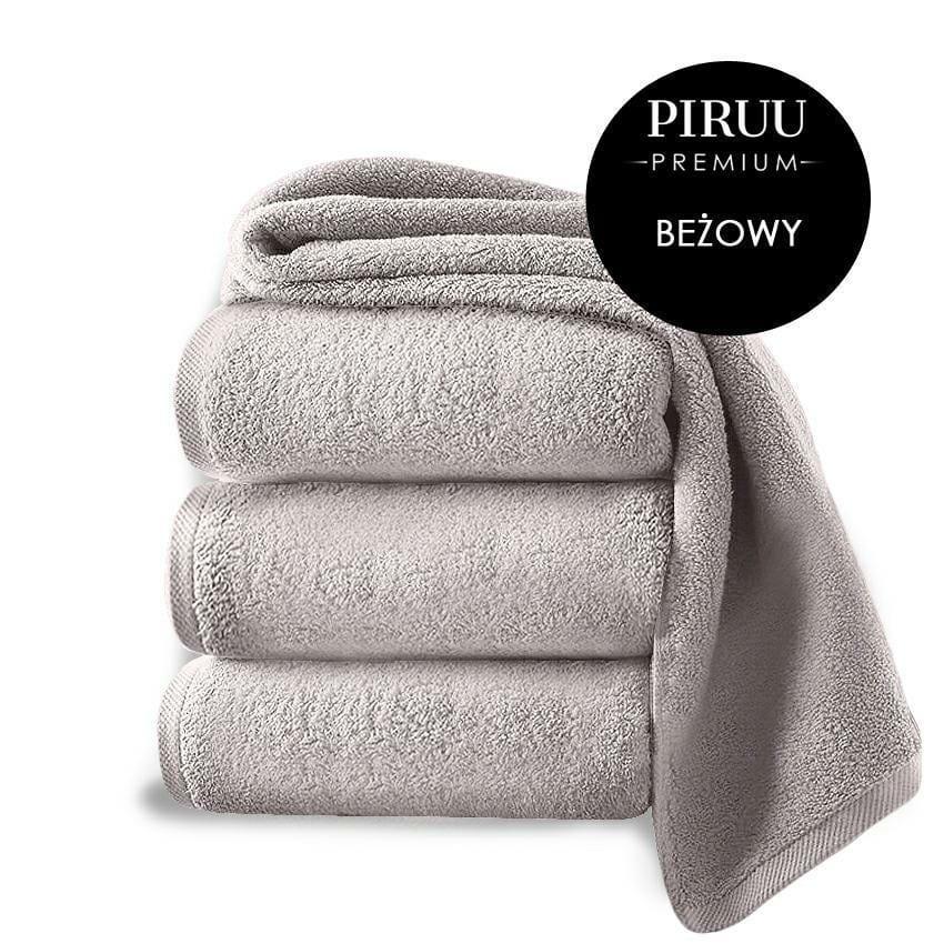 Ręcznik kąpielowy Piruu 50x100 gruby chłonny beżowy